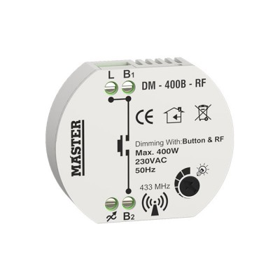 DIMMER KYTIOY 400W LED (ΤΗΛΕΧΕΙΡΙΣΜΟΣ BUTTON & RF) DM - 400B - RF